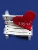 keramička klupica, konfeta /Ceramic bench, confetti