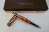 kemijska olovka od maslinova drva, kutija / kemijska olovka od maslinova drva, pozlaćena /  Olive Wood Pen box