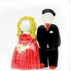 mladenci, murano staklo /Newlyweds, weding confetti, murano glass
