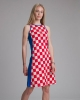 plavo-kockasta tunika / tunic with red and white checkered and blue accessory
