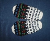šarene vunene papuče-mekavci / Women's wool slippers - mekavci