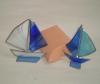 tigfani jedrilica /Sailboat tifany glass , 9cm/12cm