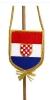 crna autozastvica, Croatia / Car flag Croatia /black)