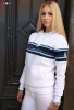 ženska hudie jakna, plavo-bijela /Women's Hoodie blue and white strips