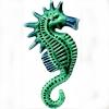 morski konjić, keramika /Seahorse Figurine
