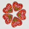 keramički licitar u kutiji, konfeta /Ceramic licitar, weding confetti