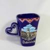 keramički lončićm izvijena ručka /Ceramic Mug