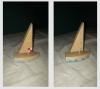 jedrenjak, od drva /Wooden Sailboat