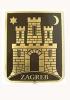 grb grada Zagreba, mesingani / Zagreb Coat of Arms, brass
