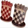 drveni hrvatski grb, stolni /Croatian Coat of Arms, wooden, for a tablel