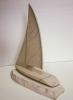 kamene jedrilice,dva jedra/  Stone Sailboat, two sail