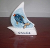 keramička jedrilica  /Ceramic Sailboat  -Croatia