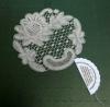 lepoglavska čipka, ruža cca 10cm / Lepoglava Lace in a cardboard