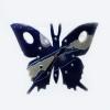 zidni sat, keramika /Wall clock-butterfly , ceramics