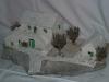 kamena kućica s okućnicom, minijatura 47cm/ Stone house, miniature 47 cm