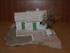 poljska kućica -produžena, minijatura 15cm/ Stone house, miniature 15cm