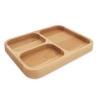 drvena ovalna zdjela /Wooden Plate , oval, two partitions