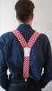 muški tregeri , kockasti /  Men's Suspenders