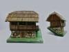 turopoljske kuće,minijatura / Turopolje wooden houses miniatures