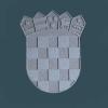 HR grb, na ploči / Croatian Coat of Arms, Brac stone, Brac stone