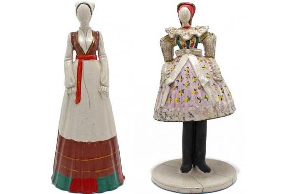 keramičke figurice-otočanke / Ceramic figures-women from Island 26cm