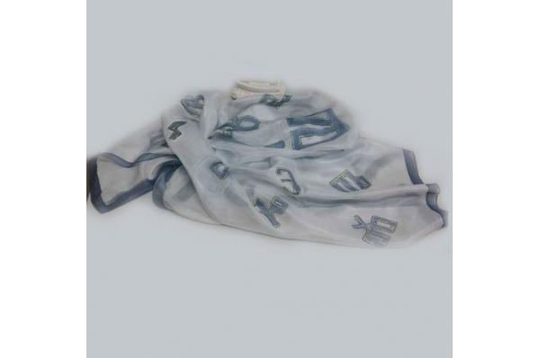 svilena marama /šal s glagoljicom / Silk Scarf / Shawl,glagolitic