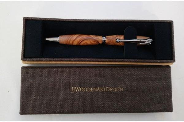 kemijska olovka od maslinova drva  / kemijska olovka od maslinova drva, pozlaćena /  Olive Wood Pen,