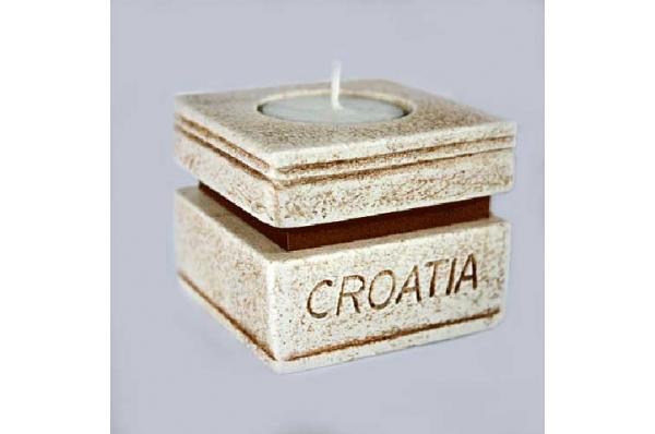 svijećnjak Croatia, latinica /Candlestick -Croatia