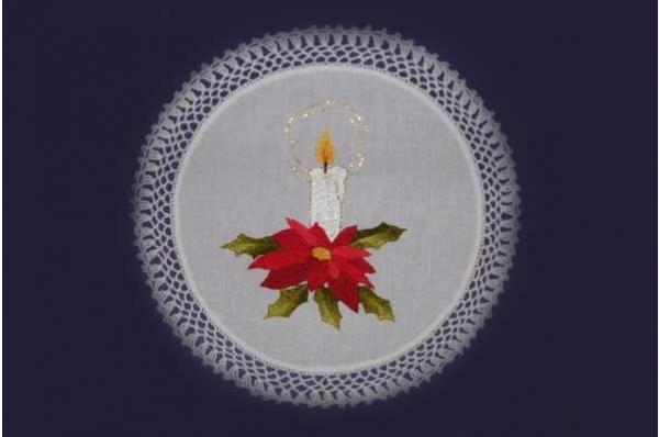vezeni ukras za stol, božićni motiv / Embroidered Christmas table decoration