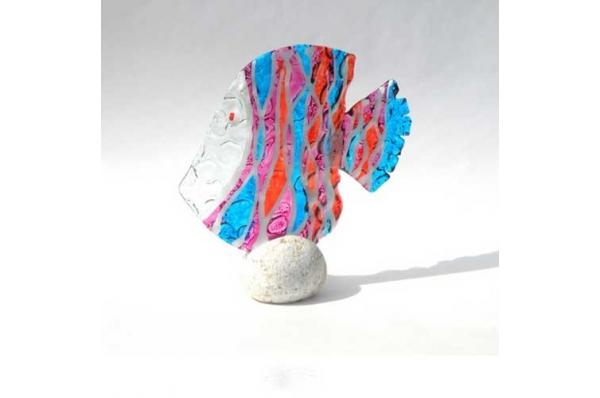 murano ribica na kamenu /Murano Fish on the Stone