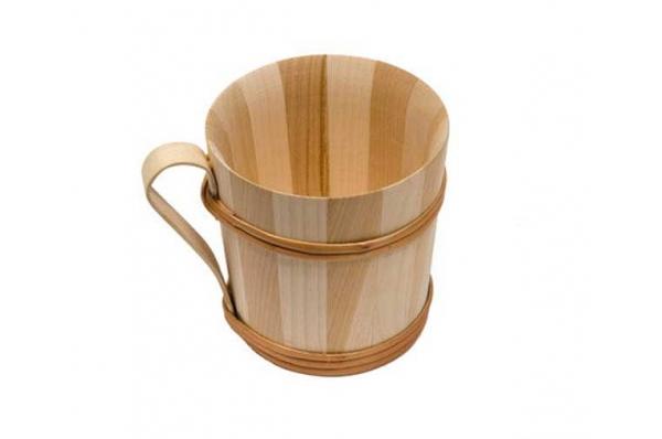 drvena krigla,drveni obruč /Wooden Cup