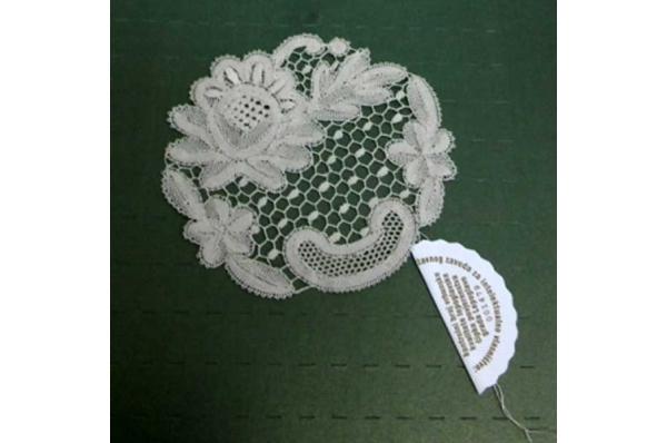 lepoglavska čipka 10cm, ruža/Lepoglava lace -rose