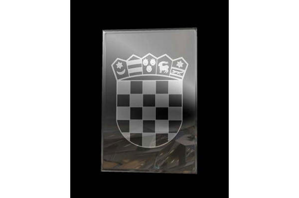 hrvatski grb u staklu,3D animacija / Croatian Coat of Arms, 3D animation in glass
