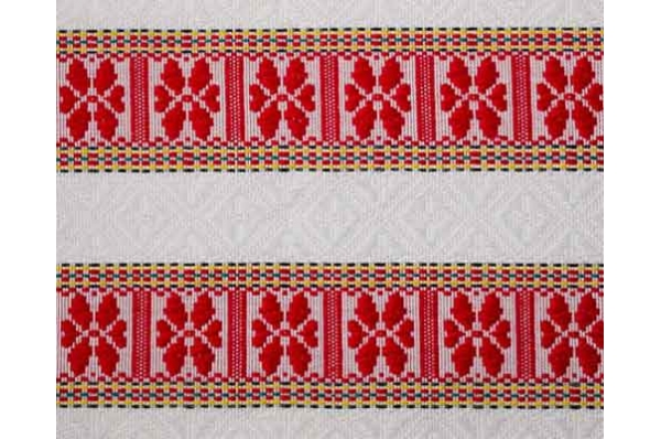 stplnjak / nadstolnjak motiv crveno-bijele ružice / Tablecloths and Runners , ethno motif roses