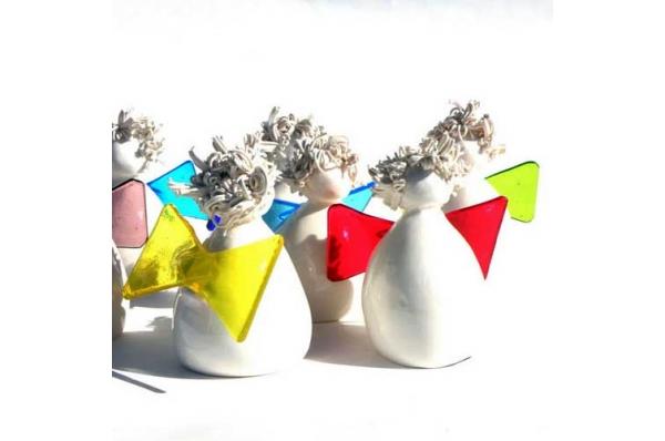 murano anđeli 7cm /Figurines, murano angels  7cm