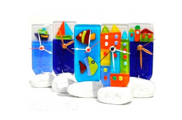 murano sat na postoljiu /Clock on the stand, murano glass