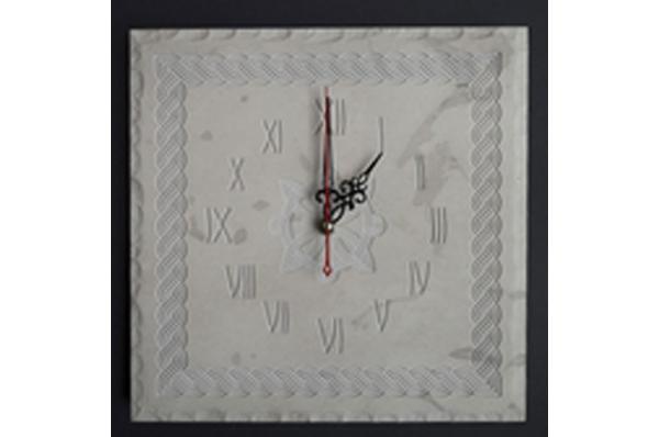 četvrtasti zidni sat od bračkog kamena /Square wall clocks,, Brac stone