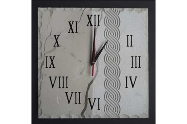 četvrtasti zidni sat od bračkog kamena /Square wall clocks, Brac stone