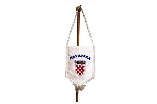 bijela autozastvica, Hrvatska / car flag Hrvatska