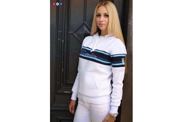 ženska hudie jakna, bijela