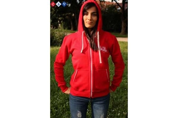ženska hudie jakna, crvena