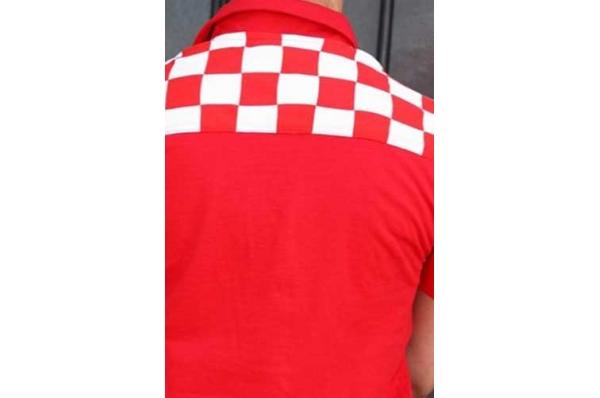 muška polo majica, crvena s leđa /Polo shirt