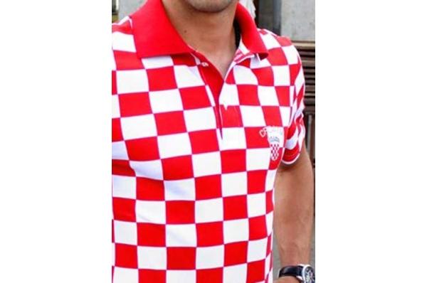 muška polo kockasta majica, prednji dio /