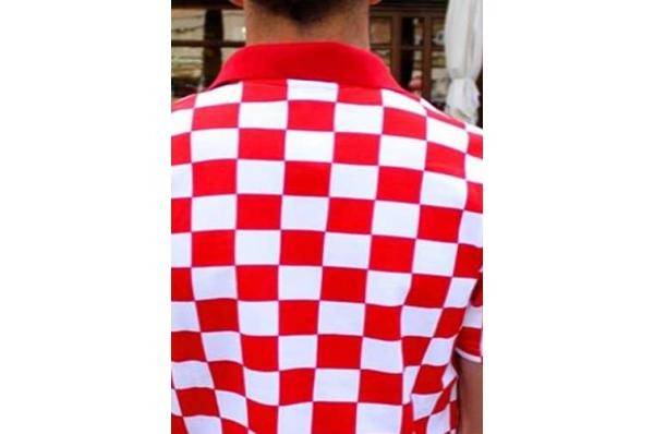 muška polo kockasta majica, zadnji dio/Polo shirt