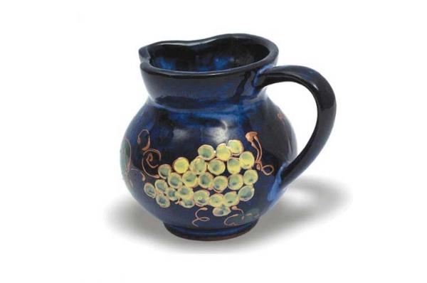 vrč za vino, oslikan /Ceramic Wine Jug