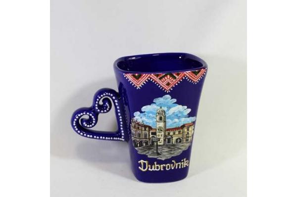 keramički lončić, ručka srce /Ceramic Mug -heart handle
