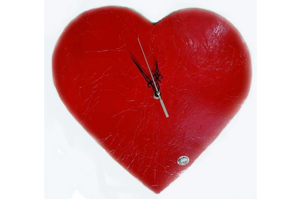 zidni sat-srce, keramika /Wall clock -hearth , ceramics