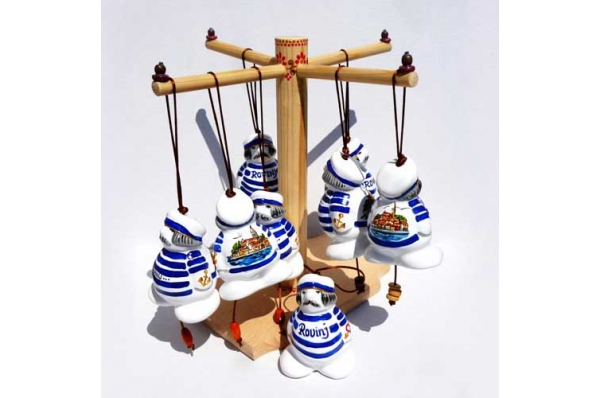 keramički zvončić, mornar / Bell, mariner