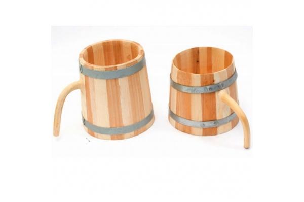 drvena krigla, metalni obruč /Wooden Cup