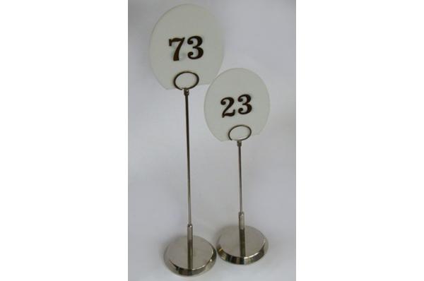 stalak za broj stola + broj / Table stand &  Table number
